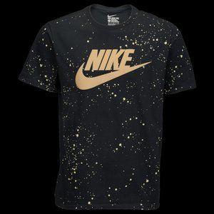 Nike Hazardous Speckle T-Shirt - Black / Gold